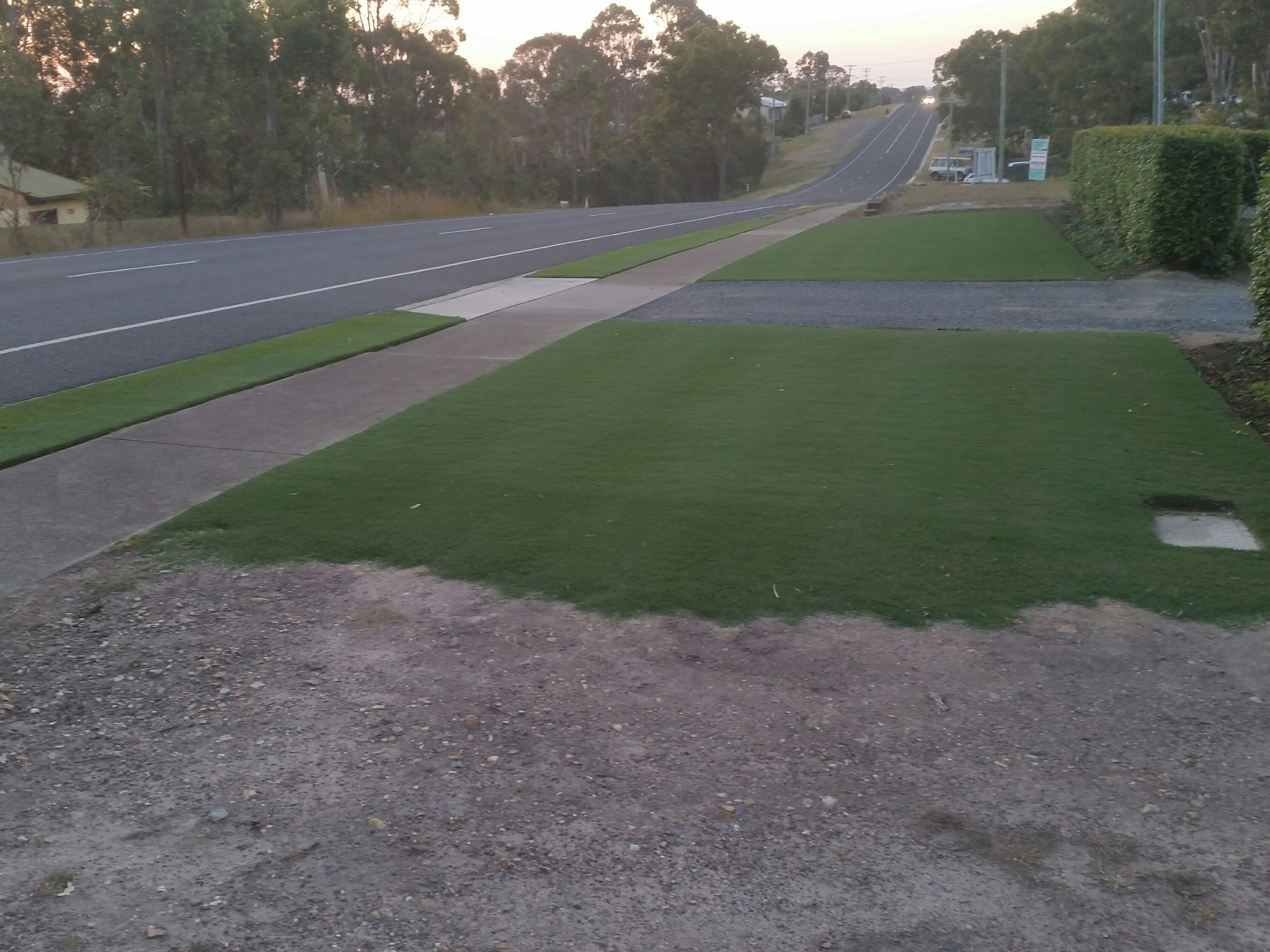 Cylinder mowing a lawn in hervey bay